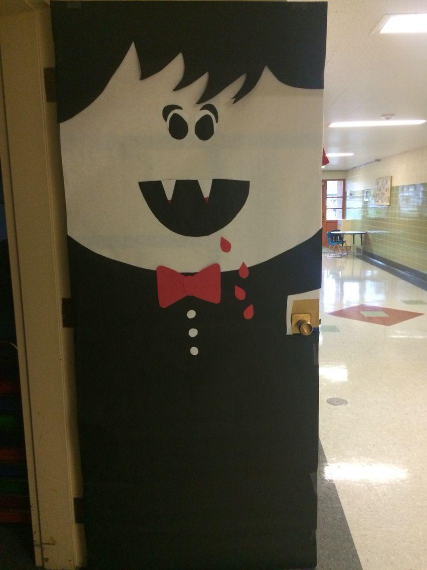 Elementary Halloween Door Decoration Vampire Educational Ideas - pinterest halloween door decor