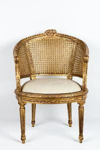 Classic Armchair Gilded Ith Gold Leaves It S Upholstered With Ivory White Velvet It Canning Like The Entire A Victorian Chair Antique Dining Chairs Armchair