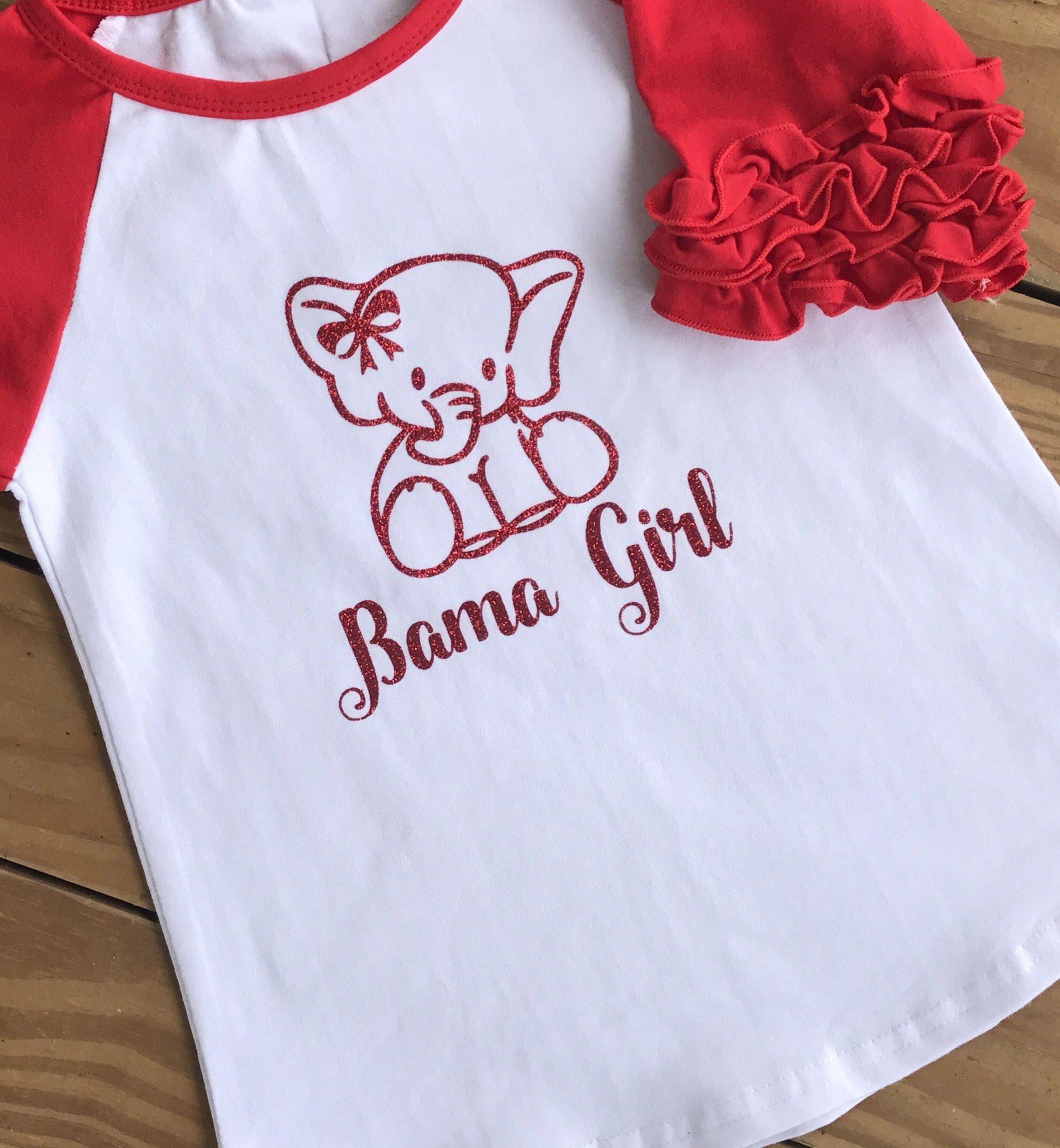 Bama Girl Alabama Raglan Roll Tide Alabama Shirt Crimson Tide