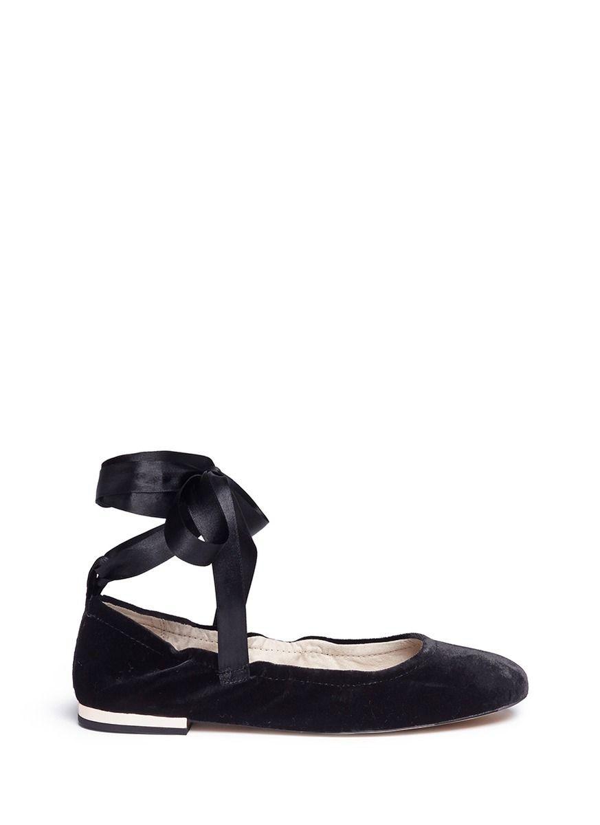 e8e116d965f SAM EDELMAN  Fallon  ankle tie velvet ballet flats.  samedelman  shoes   flats