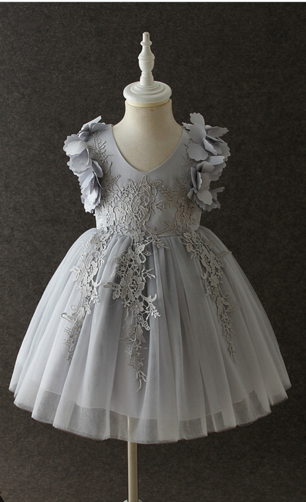 Infant Baby Party Flower Girl Dress Baptism Toddler Princess Lace Kids Clothing