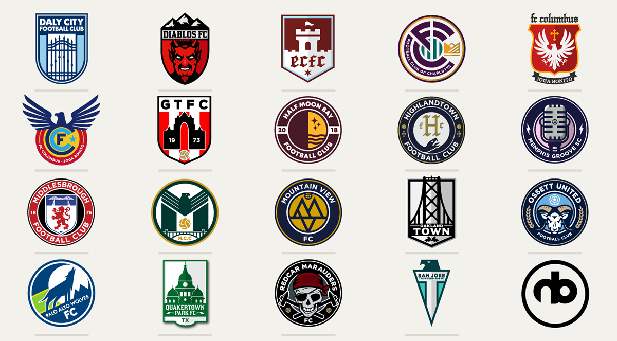 Football Soccer Crests Collection Vol 02 On Pantone Canvas Gallery Soccer Football Soccer Football