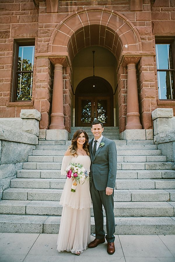 Intimate Courthouse Elopement
