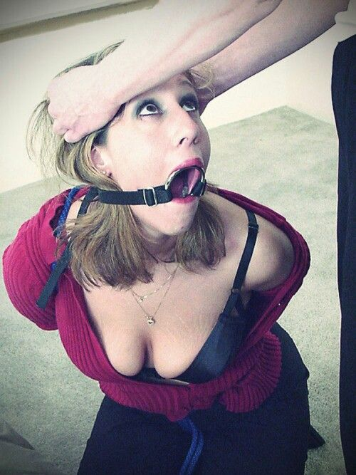 Woman exceptional! ring gag blowjob
