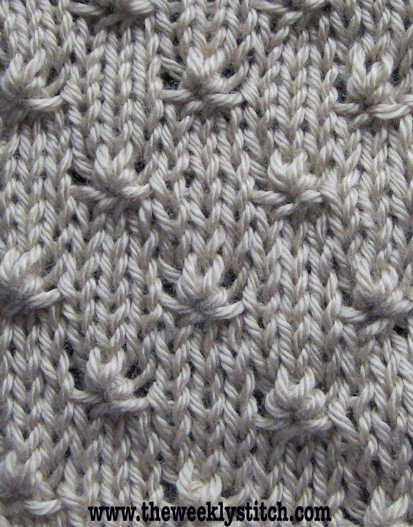 Knitting Knots Rolde : Knot stitch popis za reprodukciju pletenje video
