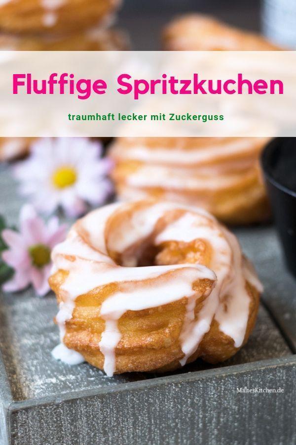 Traumhaft fluffige Spritzkuchen mit Zuckerguss #pumpkinspicecupcakes