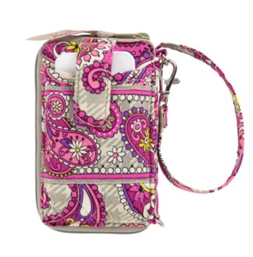 Vera Bradley  Carry It All Wristlet in Paisley Meets Plaid - Especially designed to fit large mobile phones, this zip-around also boasts four card slots, a zippered coin pouch, ID window and a bill slot. Use the adjustable wrist strap to carry as a handbag or a wristlet, or attach it to the handle of a larger bag.