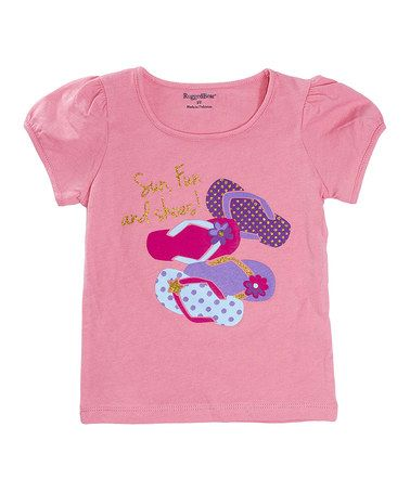 Another great find on #zulily! Pink Flip-Flop Tee - Infant & Toddler #zulilyfinds