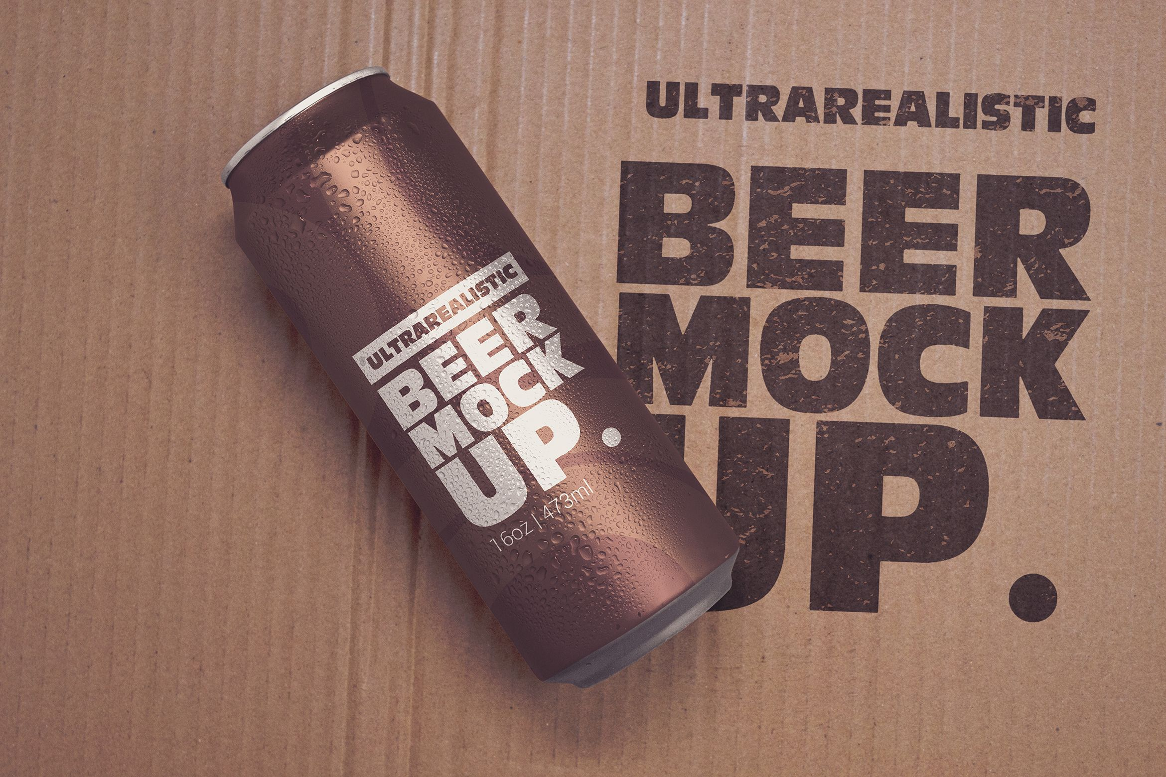 16oz Paperboard Beer Can Mockup Graphic By Smartdesigns Creative Fabrica Beer Can Mockup Beer