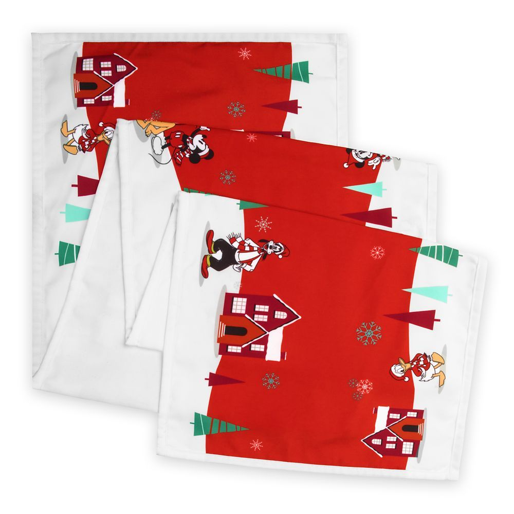 Mickey And Minnie Mouse Holiday Table Runner Official Shopdisney Holiday Table Runner Mickey Mouse And Friends Mickey
