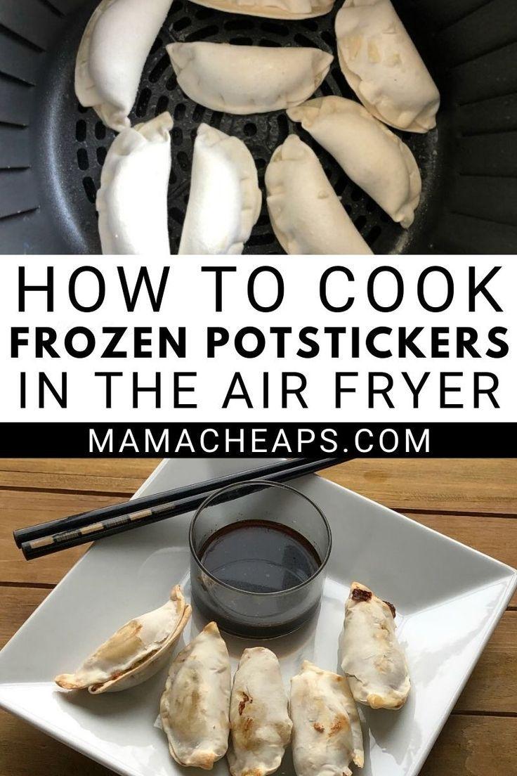 Cooking up frozen potstickers or dumplings is SO easy when