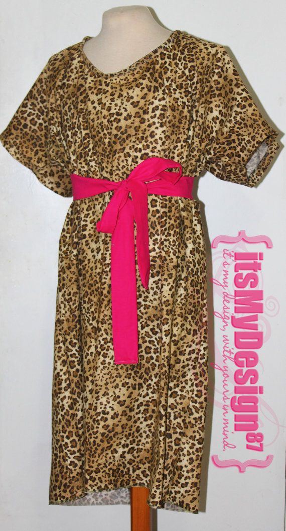 Leopard Print Maternity Hospital Gown - READY TO SHIP ...