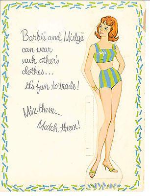 Vintage 1963 Barbie Ken a Midge papel muñeca HD láser Repro lo Precio ~ Hi qual ~ lo Pr