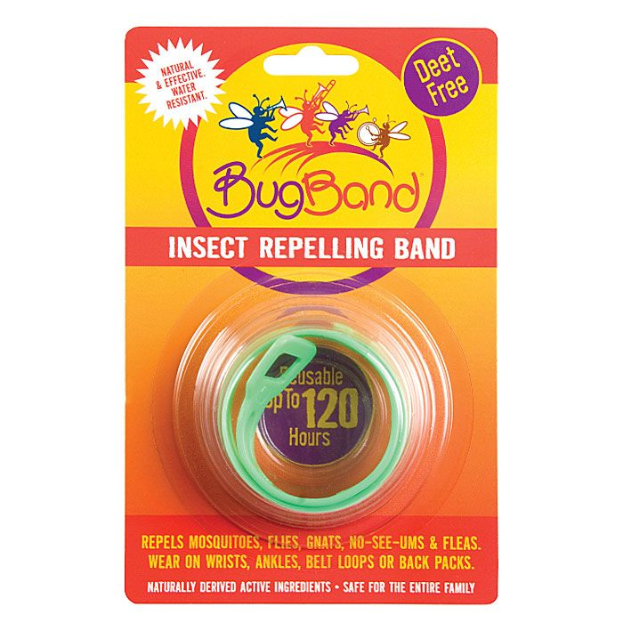 BugBand Wristbands provides light duty prtoecton. Can be used up to 120 hours.