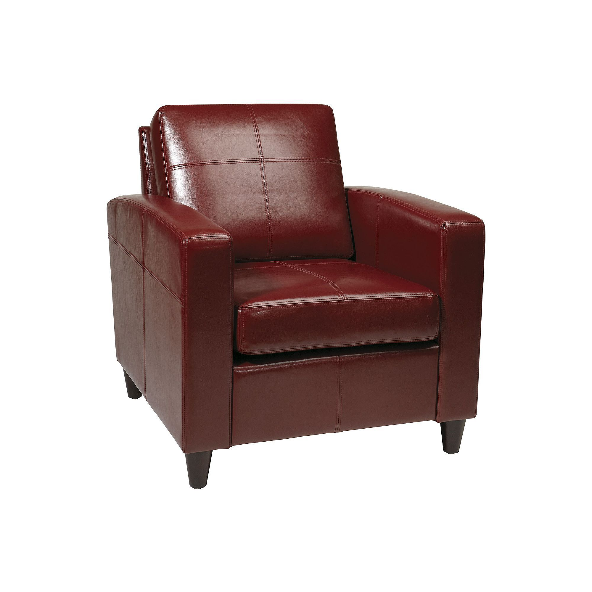 Office star products avenue six venus club chair red