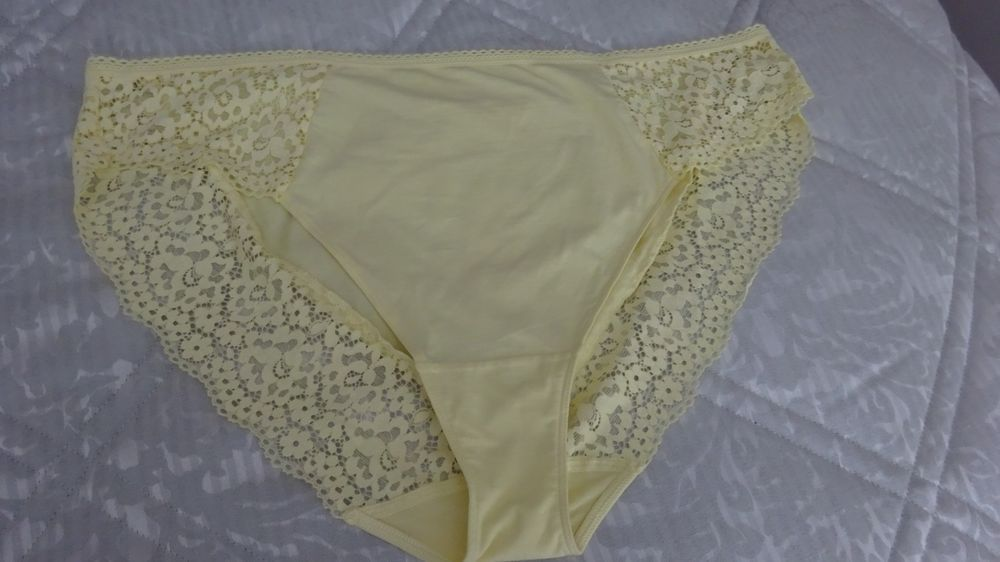 8d4ca067b44 MARKS AND SPENCER NEW QUALITY 2 PAIR LEMON STRETCH LACE TRIM KNICKERS SIZE  24  fashion  clothing  shoes  accessories  womensclothing  intimatessleep  (ebay ...