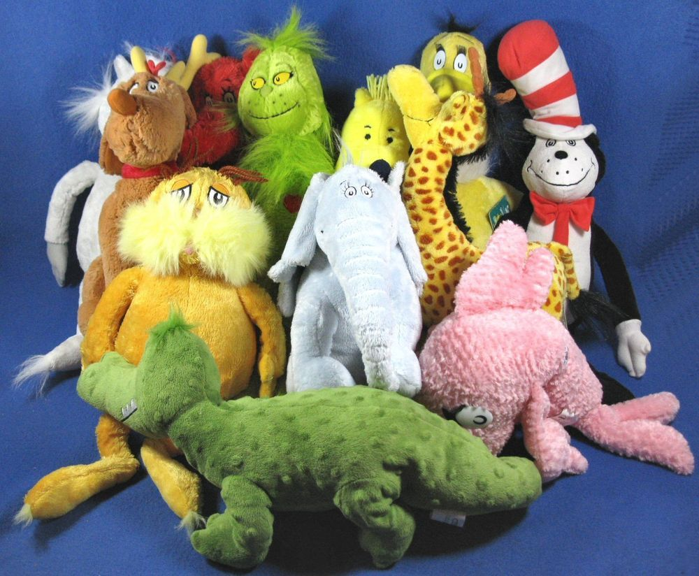 Kohls Cares For Kids Dr. Seuss Plush Stuffed Animals Lot of 12 #KohlsCaresForKids