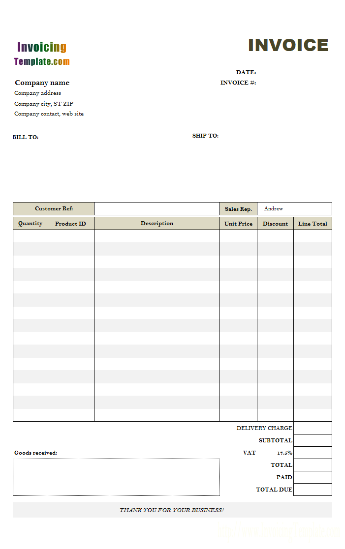 Invoice Template Uk Doc Professional Sample Template Collection Invoice Template Invoice Template Word Invoice Sample