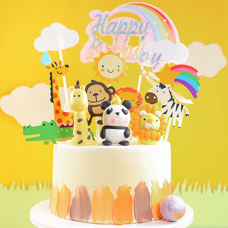 Cake Topper Animals In 2020 Animal Cake Topper Cake Toppers Lion Cupcakes