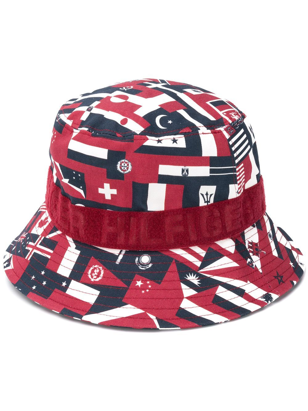 Tommy Hilfiger Mens Flag Bucket Hat Bomber
