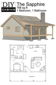 Diy Cabins The Sapphire Cabin Tiny House Cabin Small Cabin Plans Small House Plans