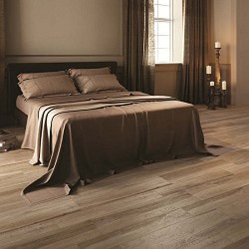 Forest Natural Wood Effect Floor Tile In A Dark Chocolate Brown