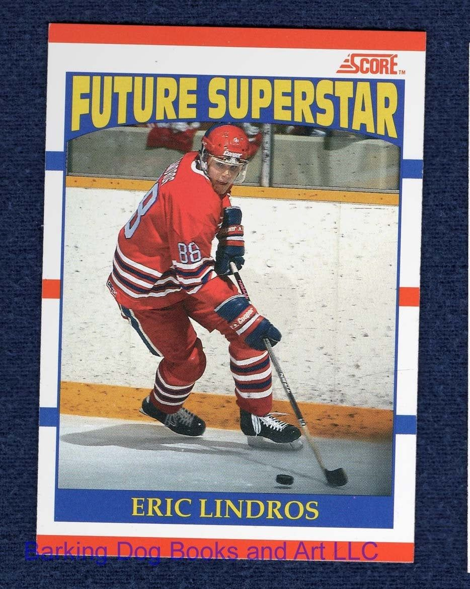 Eric Lindros Rookie Hockey Trading Cards, 8 different