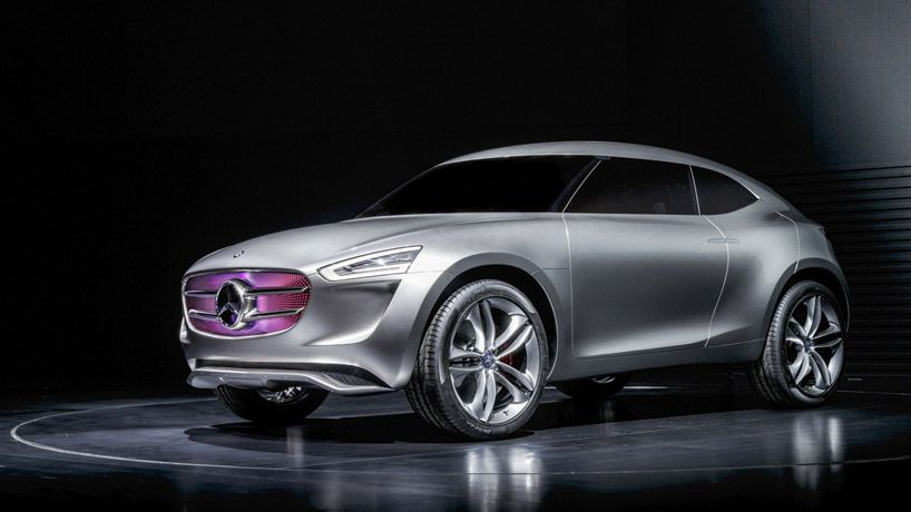mercedes-benz G-Code vision concept 'multi-voltaic' paint turns into a solar panel