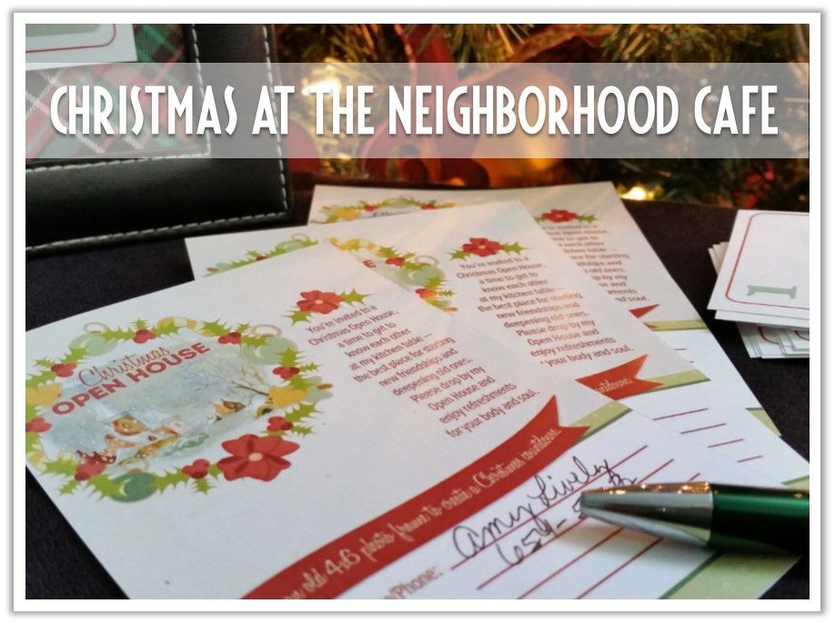The Neighborhood Cafe makes it easy to love your neighbor this Christmas!  We're offering free gifts that will open doors in your neighborhood, create opportunities to make new friends, and bless your neighbors with a meaningful gift.