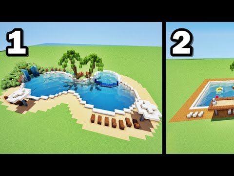 Comment faire 2 piscines de luxe sur MINECRAFT ? tutoriel ...