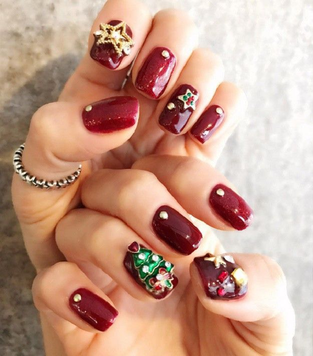 Red Nail Designs 3D | Ultimate Easy Holiday Nail Art Designs For All  Occasions - Ultimate Easy Holiday Nail Art Designs For All Occasions Red Nail