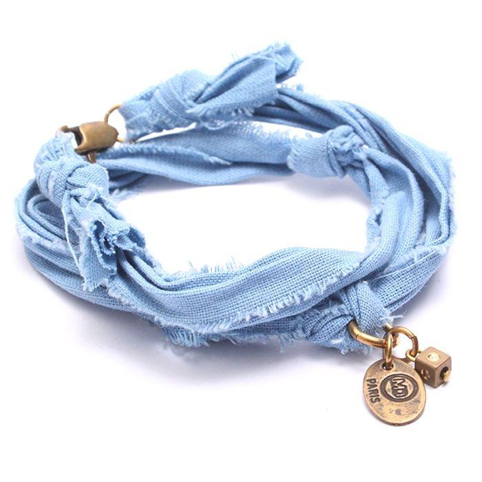 Bracelet vintage azur Marie Depaire, bracelet en tissus fait main en France, à découvrir sur www.myshop4men.com  #mariedepaire #madeinfrance #handmade #madeinparis #vintage #bracelethomme