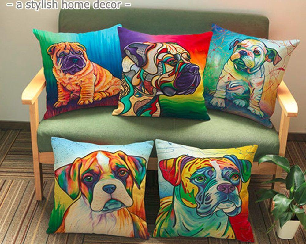 Boxer Shar Pei Puppy Beagle Pinscher Bulldog Canvas Art