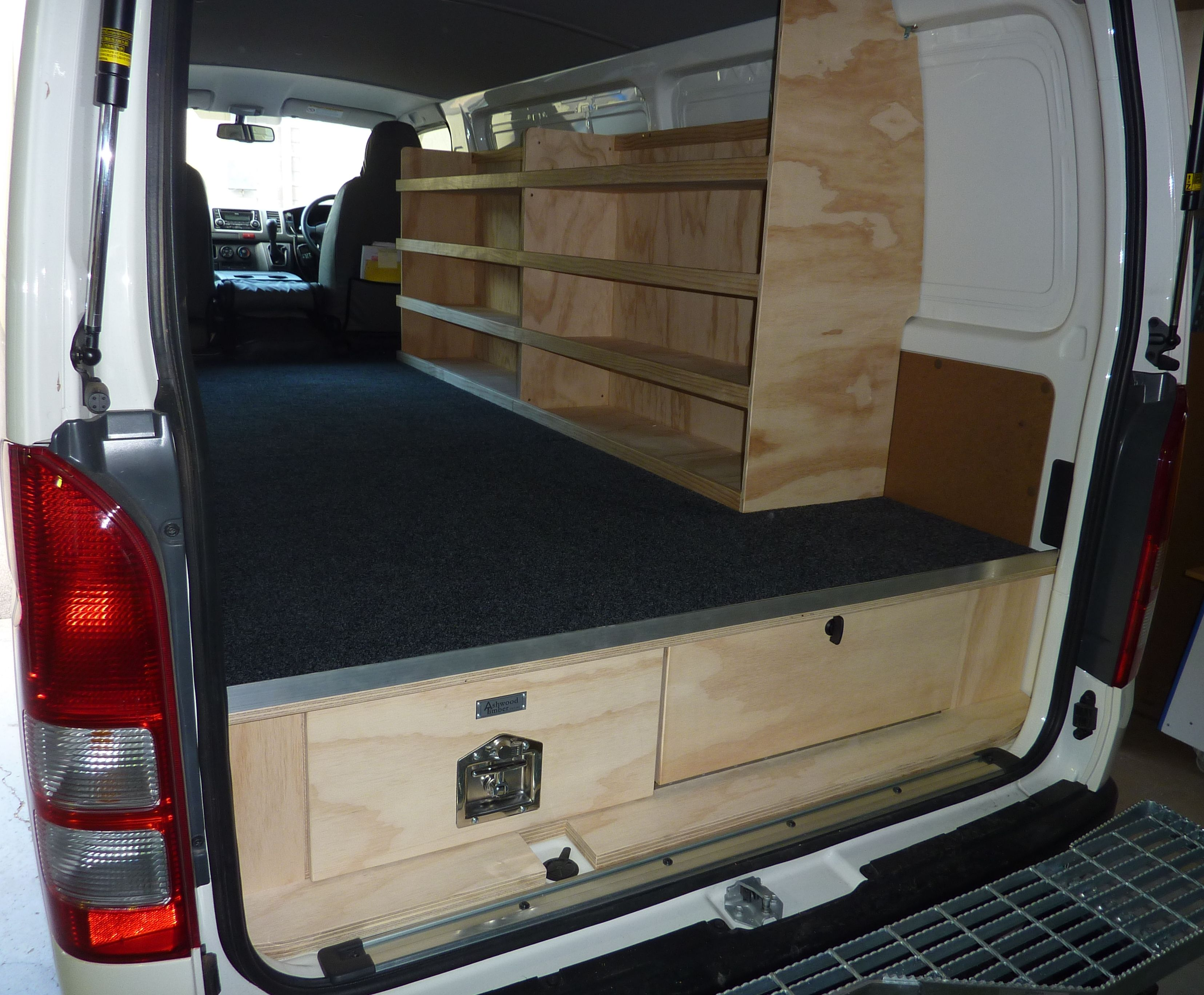 Painter Van Storage Gallery Commercial Vehicle Fitouts