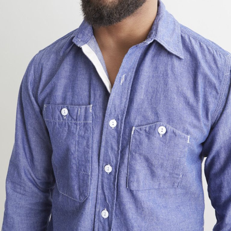 similar to a light weight denim this dungaree cloth is perfect for a rugged work shirt