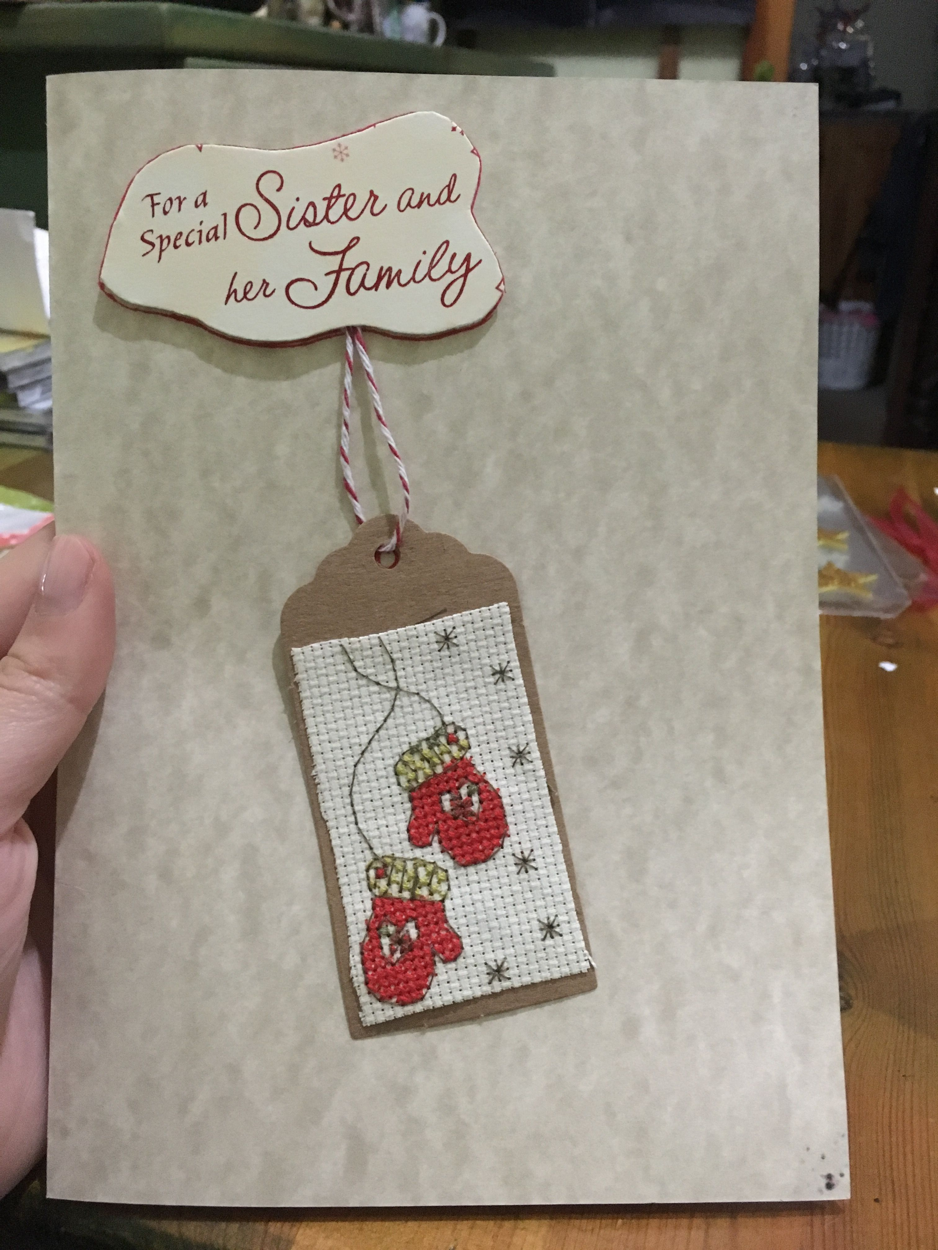 Christmas Craft: Stitched Cards
