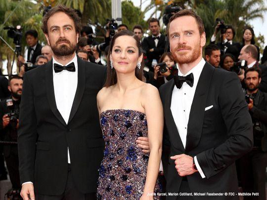 Justin Kurzel, Marion Cotillard, Michael Fassbender |.| Cannes 2015 - Redcarpet (MACBETH by Justin Kurzel)