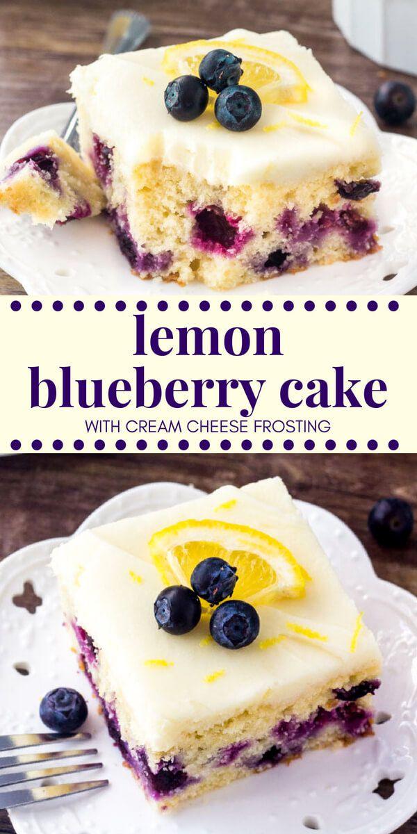 Lemon Blueberry Cake This lemon blueberry cake sta