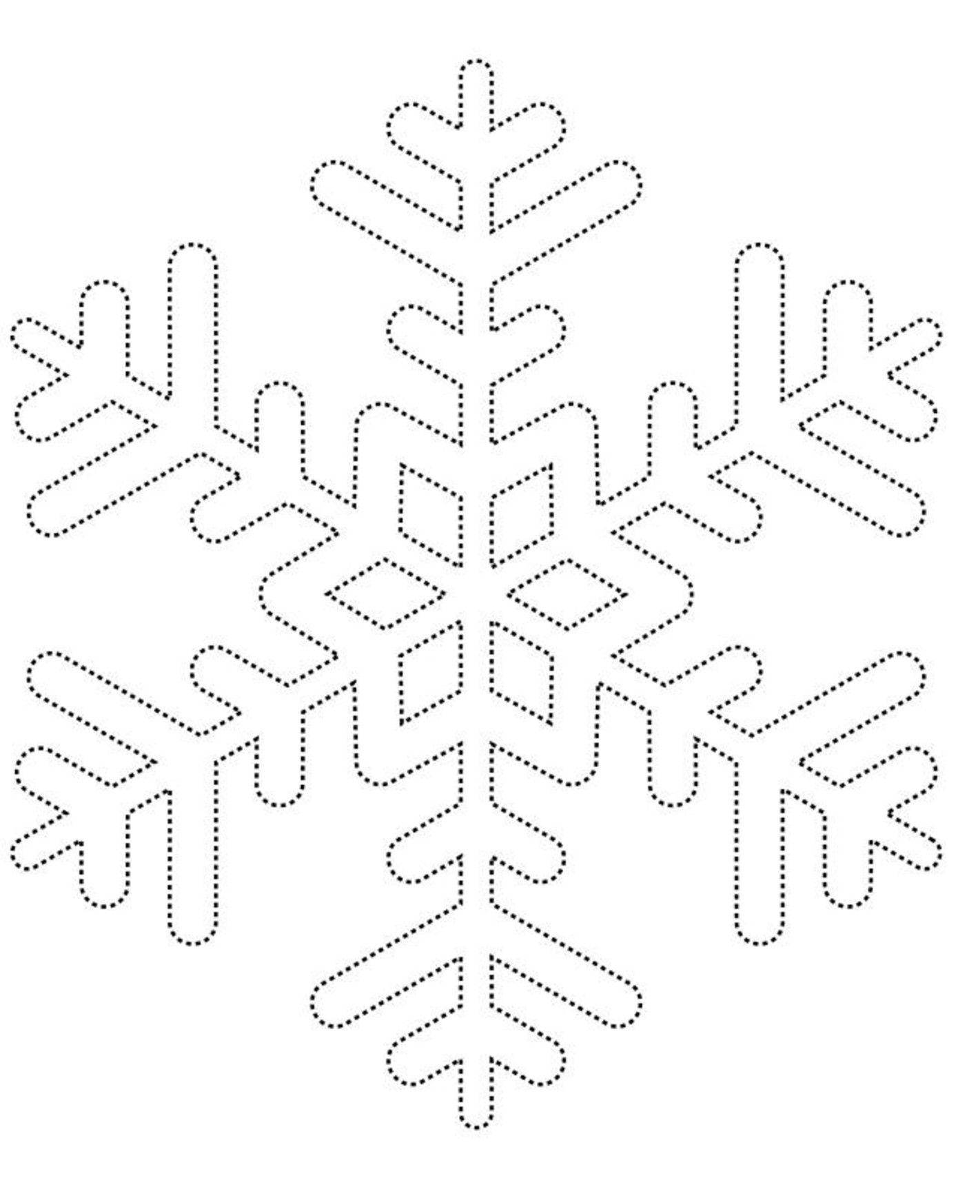 Printable Snowflake Templates to Get You Through Any Snow Day ...