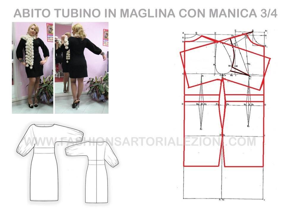 Modellistica dell\'abito tubino in maglina. www ...