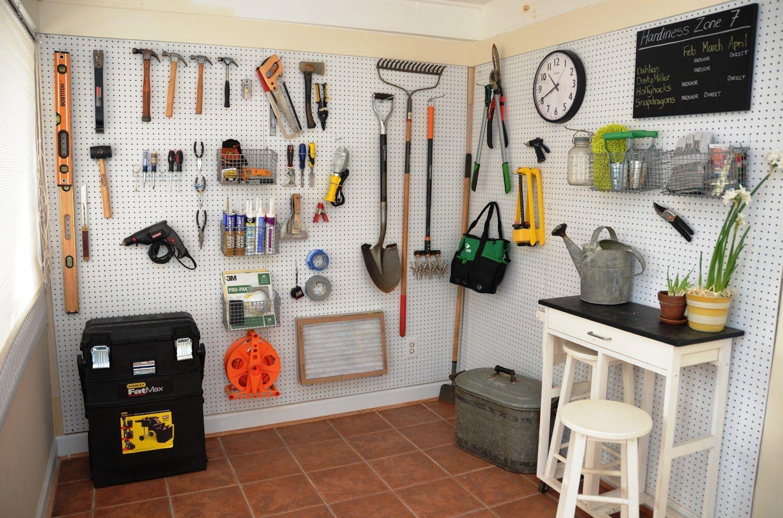 8 Ways to Organize With a Peg Board - Organization Junkie | Garage ...