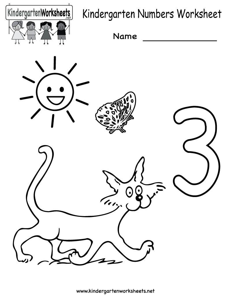 Kindergarten Numbers Worksheet Printable | Worksheets (Legacy ...