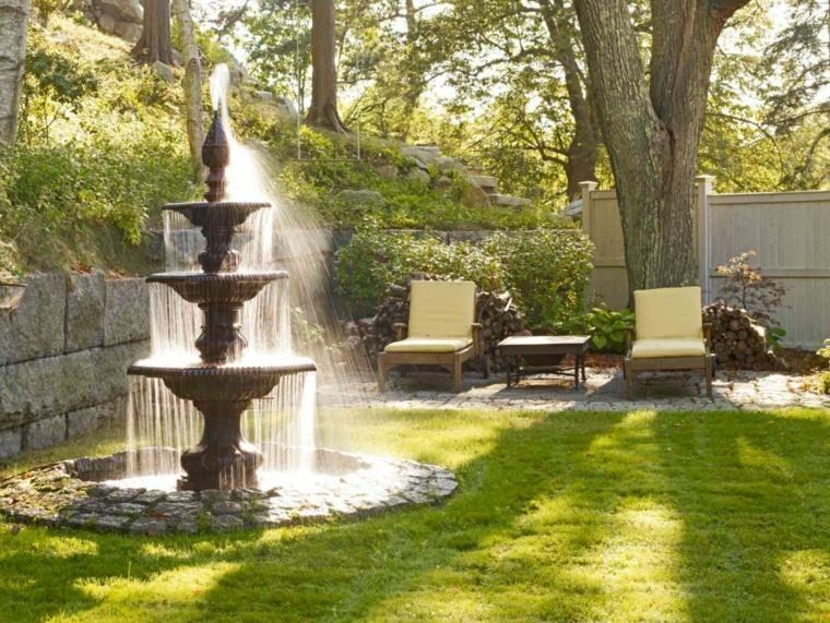 Bassin aquatique et fontaine de jardin pour décoration vintage