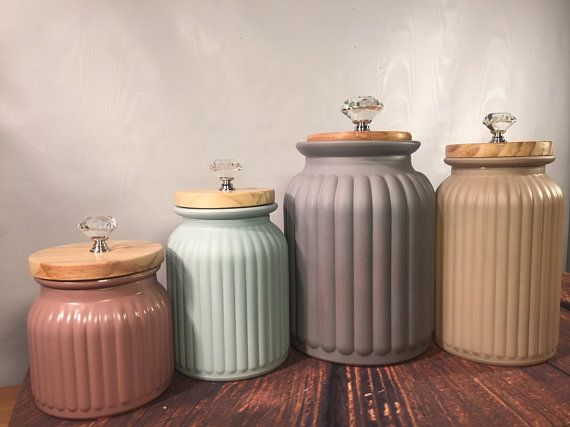 Modern Kitchen canister set / Rustic Farmhouse kitchen ...