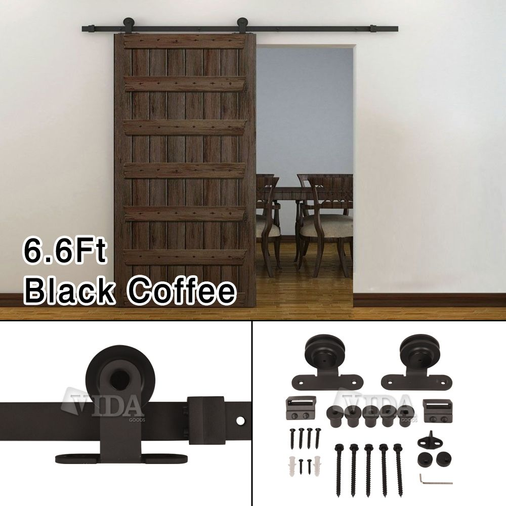 This sliding wood door hardware kit set is a great design for home