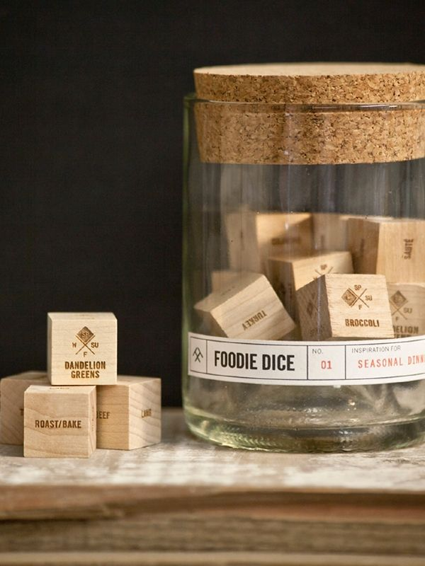 "Would this help the nightly ""what do you want for supper"" .....Wood Foodie Dice Tumbler Set / TumbleWeeds"