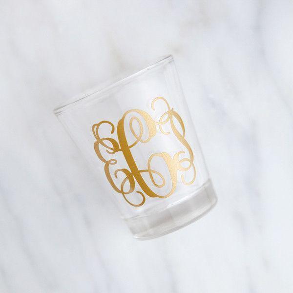 Monogrammed Shot Glass