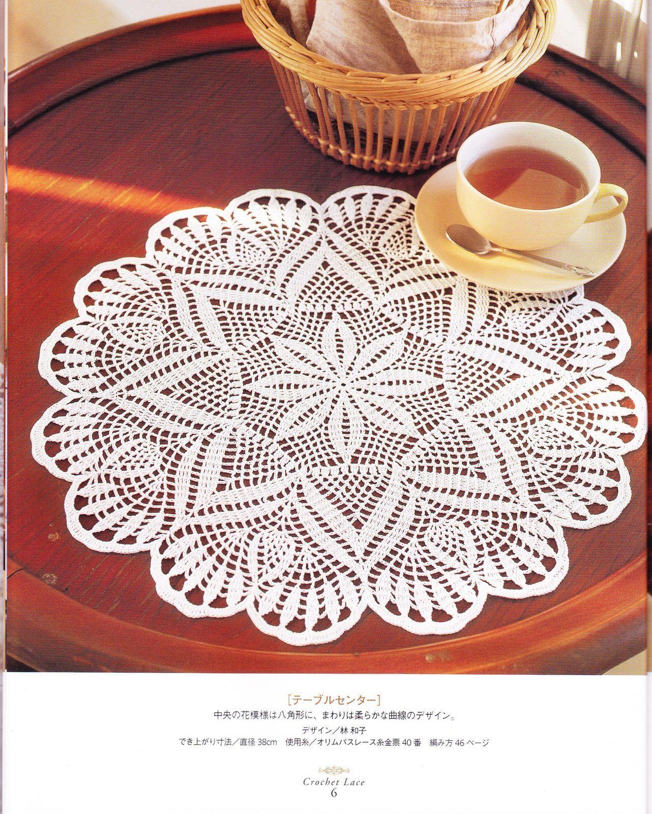 PATRONES GRATIS DE CROCHET: Patrón bello tapete o centro de mesa a ...