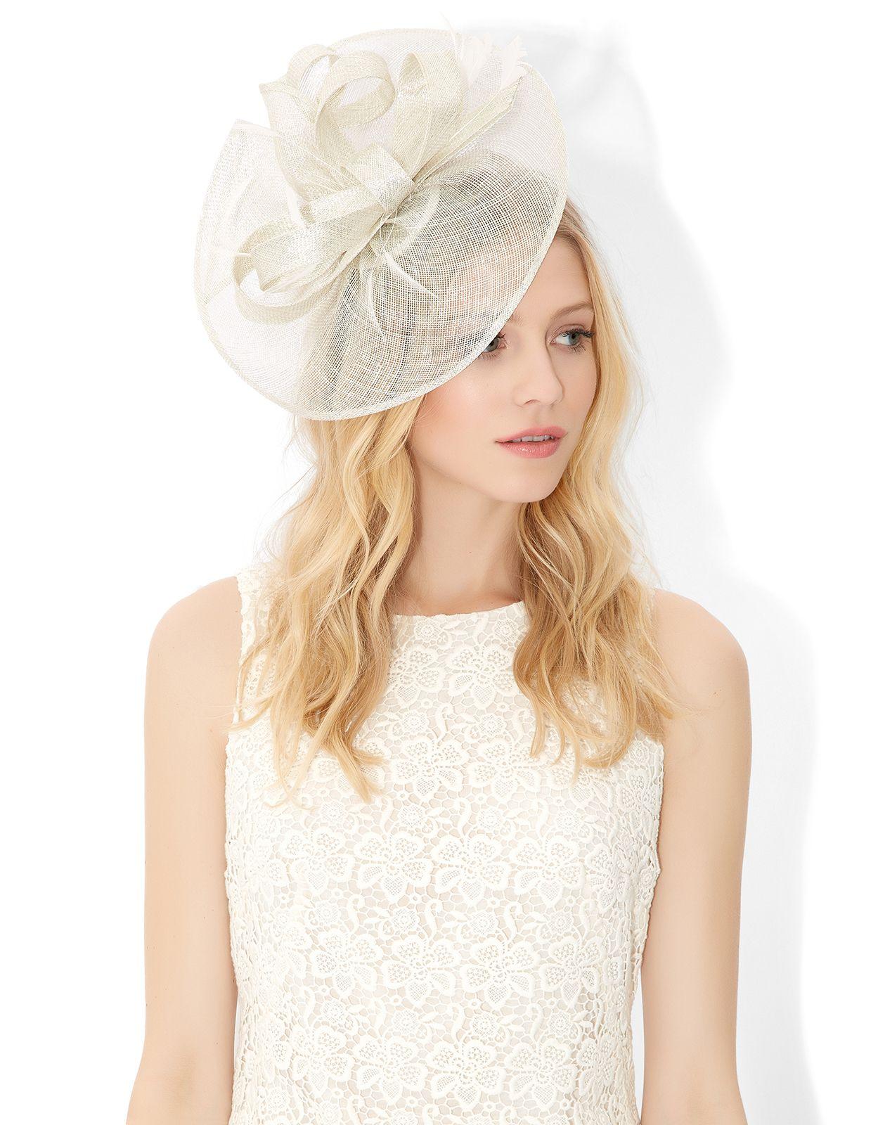 01e358a80 Cassie Metallic Sinamay Fascinator   Cream   Monsoon 68   derby hats ...