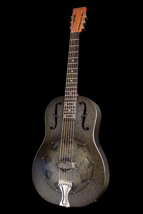 National Nrp Black Rust Resonator Guitar Vintage Guitars Guitar